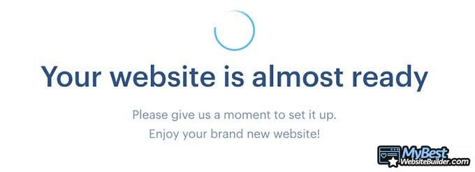Review Webnode: Loading screen.