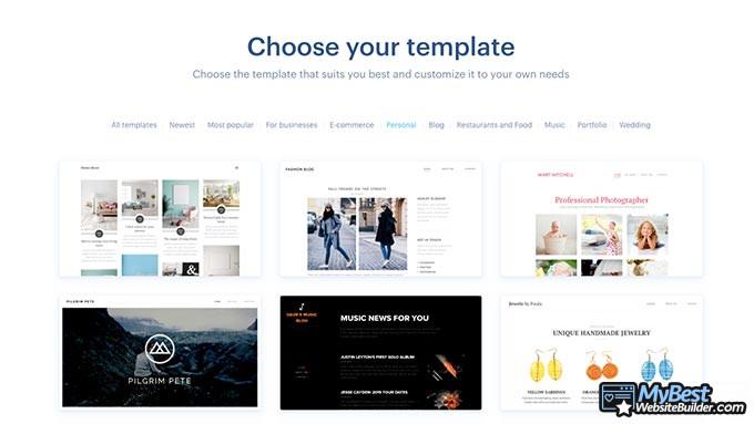 Review Webnode: Template.